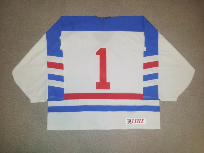 Game worn Luxembourg goalie jersey