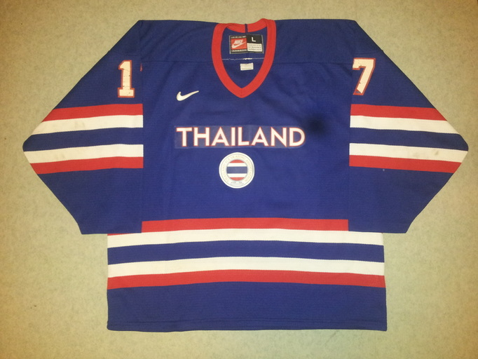 Game worn Thailand ice hockey jersey