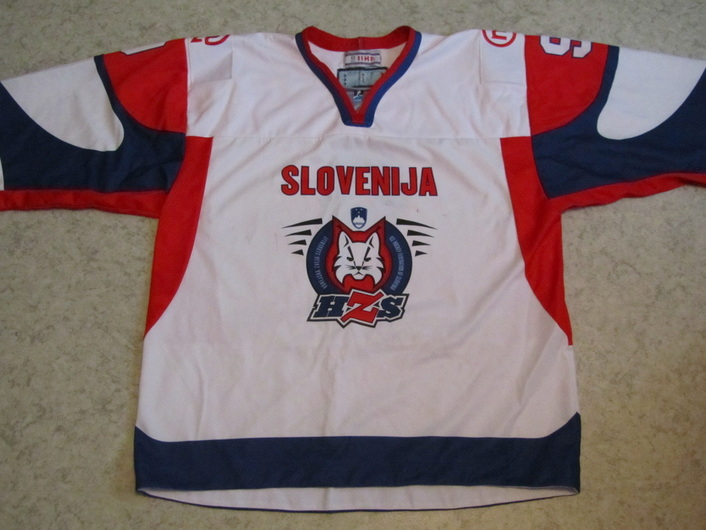 Slovenia ice hockey national team game worn jersey Tomaz Razingar