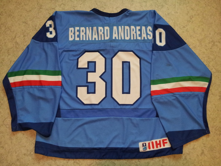 Italy game worn hockey jersey