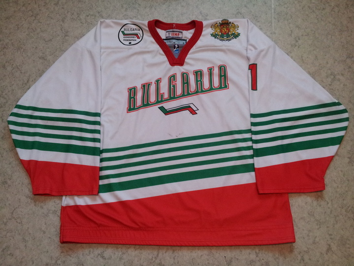 Bulgaria ice hockey national team game worn jersey Konstantin Mihaylov