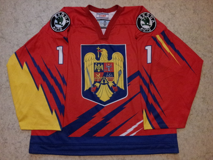 Romania - Jussi s game worn IIHF ice hockey jerseys 388a86e6a2d