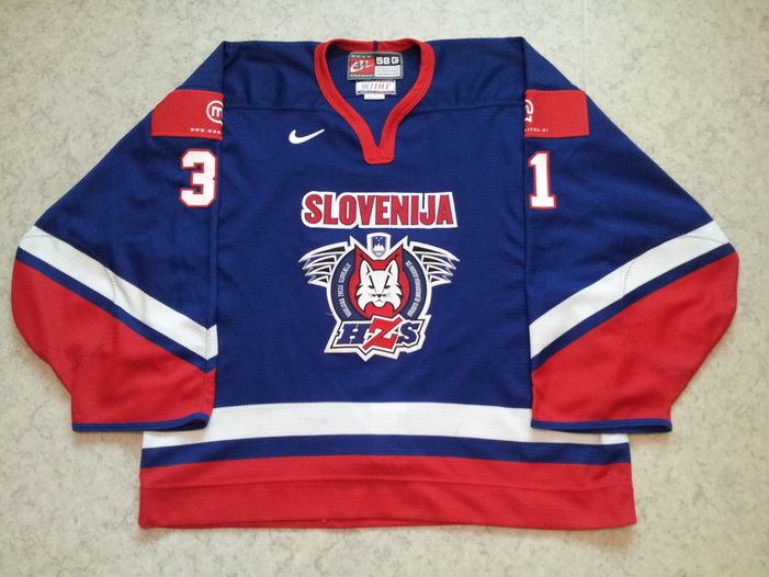 Slovenia ice hockey national team game worn jersey Robert Kristan