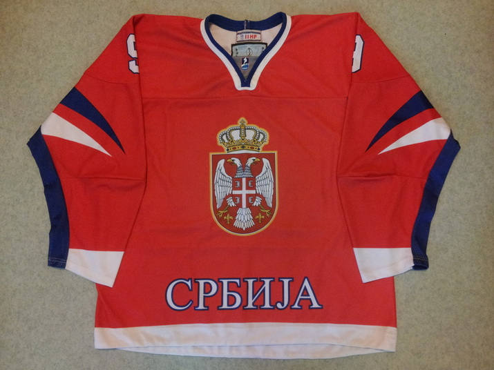 Serbia ice hockey national team game worn jersey