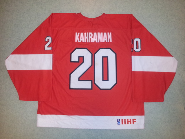 Erol Kahraman game worn Turkey jersey