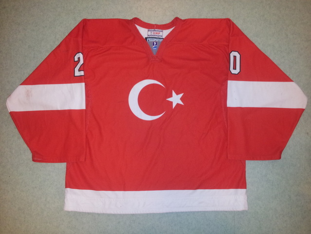 Turkey ice hockey national team game worn jersey