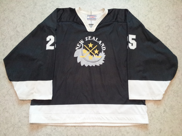 New Zealand ice hockey national team game worn jersey Rick Parry