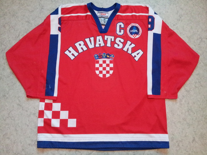 Croatia ice hockey national team game worn jersey Marko Lovrencic