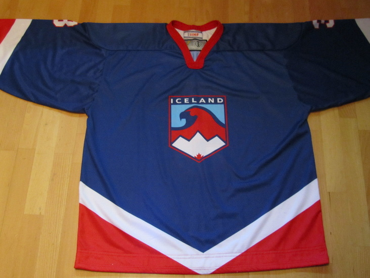 Iceland ice hockey national team game worn jersey