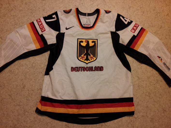 Germany ice hockey national team game worn jersey Christoph Ullmann