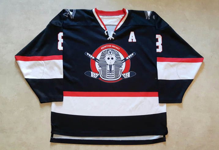 Egypt ice hockey national team game worn jersey