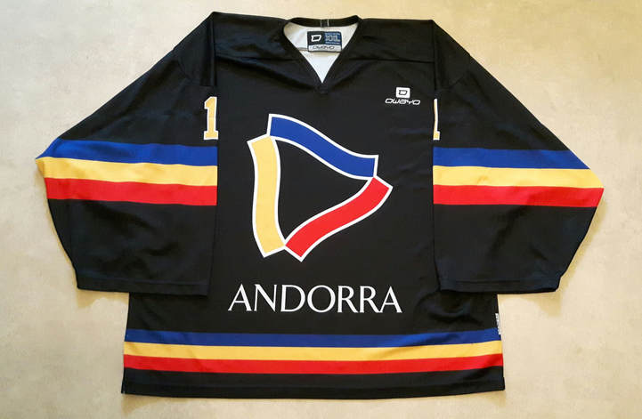 Andorra ice hockey national team game worn jersey